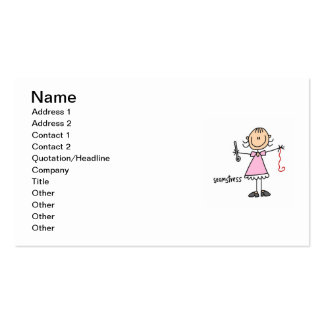 Seamstress Stick Figure Pack Of Standard Business Cards