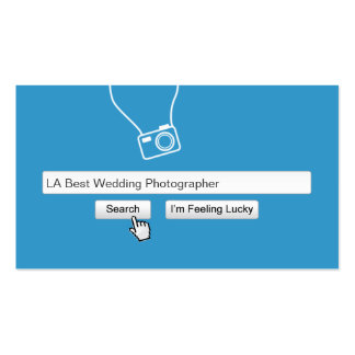 Search Bar Wedding Photography Blue Business Card