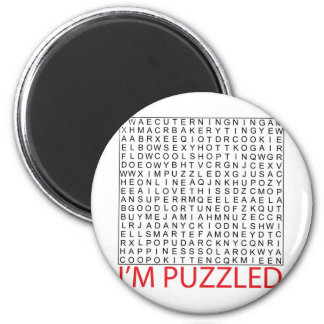 search word puzzle02 6 cm round magnet