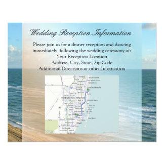 Seascape Blue and Brown Ocean Beach Wedding 11.5 Cm X 14 Cm Flyer