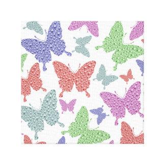 Seasonal butterflies canvas picture gallery wrap canvas