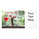Season's Greetings Squirrel Custom Photo Card