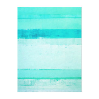 'Seasons' Turquoise Abstract Art Gallery Wrapped Canvas