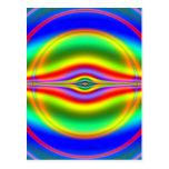 Seeing in Fluorescent Neon Fractal Postcard