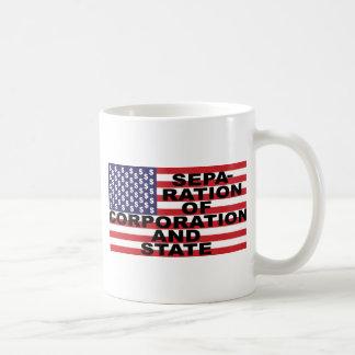 Separation of Corporation and State Basic White Mug
