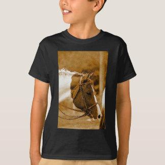 Sephia Horse Mosaics T Shirt