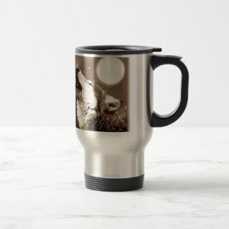 Sepia Wolf & Moon Stainless Steel Travel Mug