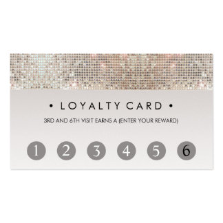 Sequin Beauty Salon 6 Punch Customer Loyalty Card Pack Of Standard Business Cards