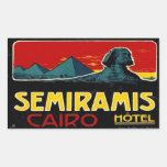 Seramis Hotel (Cairo Egypt) Rectangular Sticker