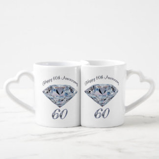 Set of 2 Lovers Mugs Sixtieth Anniversary Gifts Lovers Mug