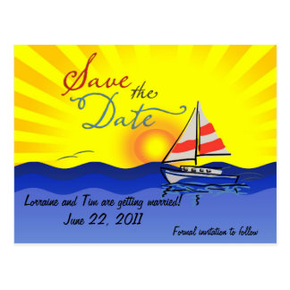 Set Sail Save the Date Postcard