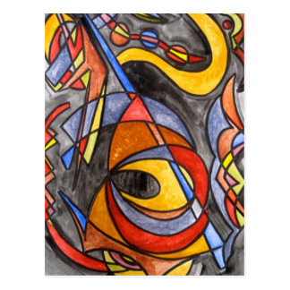 Setting Sail - Abstract Art Postcard
