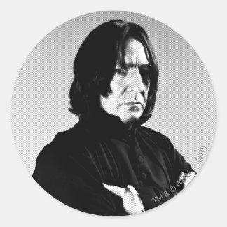 Severus Snape Arms Crossed Round Sticker