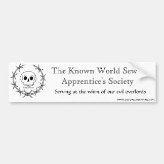 Sewer Apprentice Society Bumper Sticker