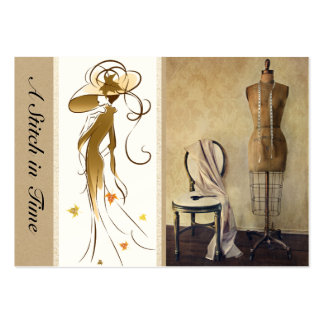 Sewing / Handmade By / Fashion Pack Of Chubby Business Cards
