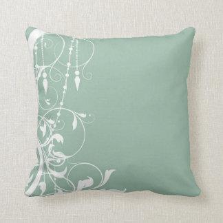 Shabby Chic Mint Pillow Cushion