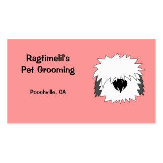 Shaggy Dog Pink Pet Business Card
