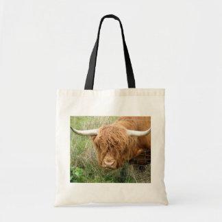 Shaggy Highland Cow Budget Tote Bag
