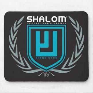 Shalom Tri Color Crest Mouse Pad