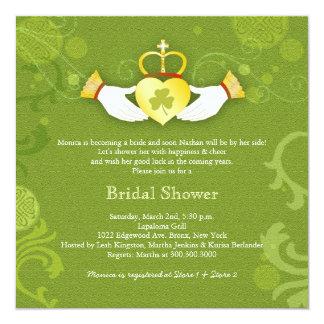 Shamrock Claddagh Heart Irish Bridal Shower 13 Cm X 13 Cm Square Invitation Card
