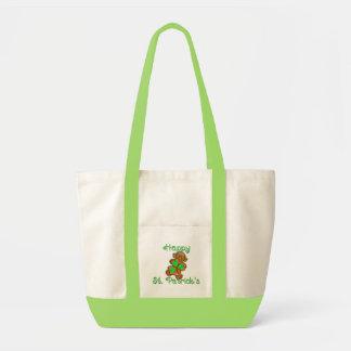 SHAMROCK GIRL HAPPY ST. PATRICKS by SHARON SHARPE Impulse Tote Bag