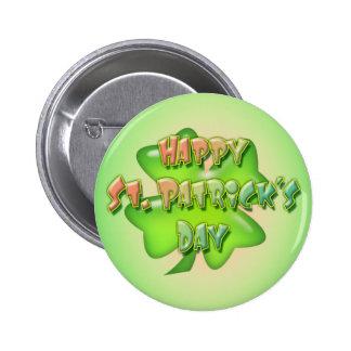 SHAMROCK  HAPPY ST. PATRICKS DAY by SHARON SHARPE 6 Cm Round Badge