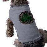 Shamrock, Lattice And Celtic Knots On Grey Sleeveless Dog Shirt