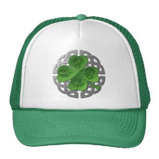 Shamrocks - Celtic Knot - 4 Evangelists Cap