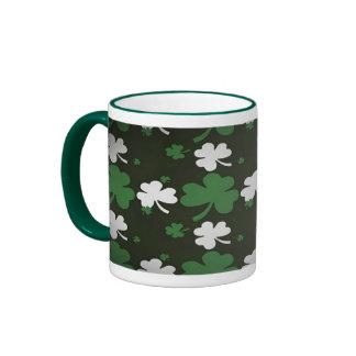 Shamrocks st pattys day mug
