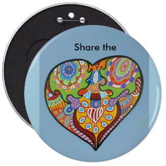 share Love 6 Cm Round Badge