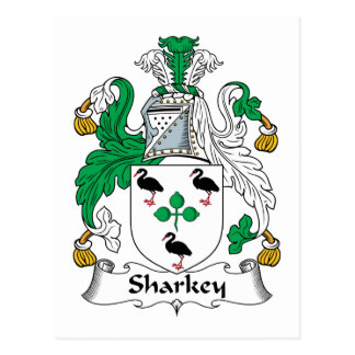 Sharkey Family Crest Postcard