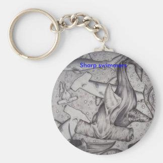 Sharp Swimmer, Sharp swimmers Basic Round Button Key Ring