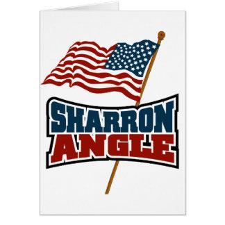 Sharron Angle Waving Flag Greeting Card