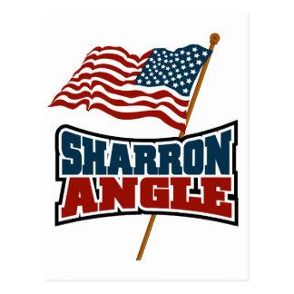 Sharron Angle Waving Flag Postcard