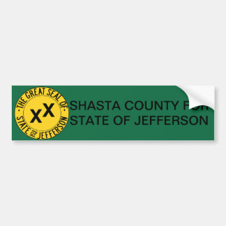 Shasta County for State of Jefferson bumper stickr Bumper Sticker