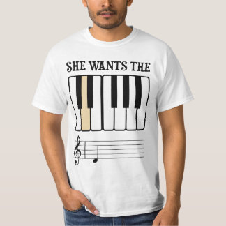 She Wants the D Piano Music Tees