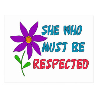 She Who Must Be Respected Postcard