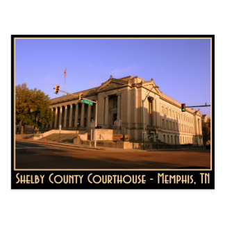 Shelby County Courthouse - Memphis, TN Postcard