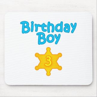 Sheriff Birthday Boy 3 Mouse Pad