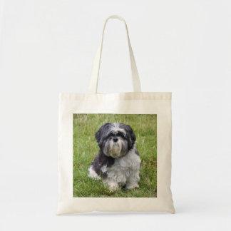 Shih Tzu dog beautiful photo shopping tote bag