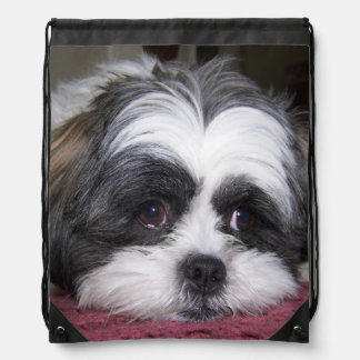Shih Tzu Dog Drawstring Bag