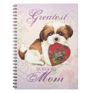 Shih Tzu Heart Mom Spiral Note Book