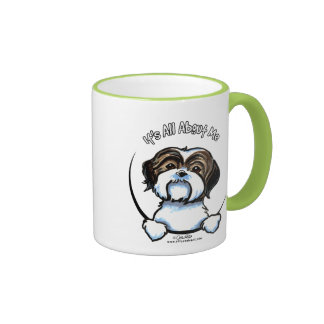 Shih Tzu Its All About Me Ringer Mug