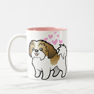 Shih Tzu Love (puppy cut) Two-Tone Mug
