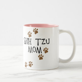 Shih Tzu Mom Two-Tone Mug