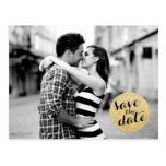 SHIMMERY CIRCLE | SAVE THE DATE ANNOUNCEMENT POSTCARD