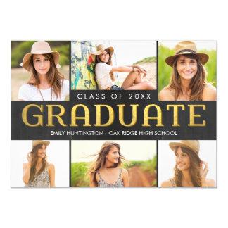 Shining Future Graduation Announcement Invitation