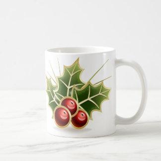 Shining Holly Berry Basic White Mug