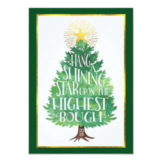 Shining Star Holiday Photo Card Double-Sided 13 Cm X 18 Cm Invitation Card