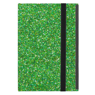Shiny Glitter, Sparkling Glitter Glow - Green iPad Mini Case